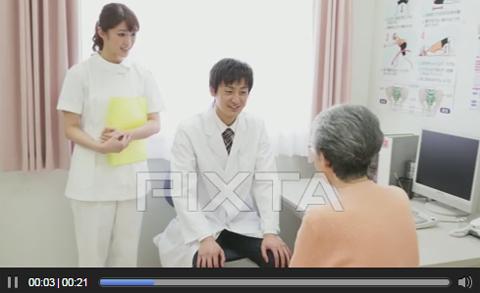 病院の映像・動画素材