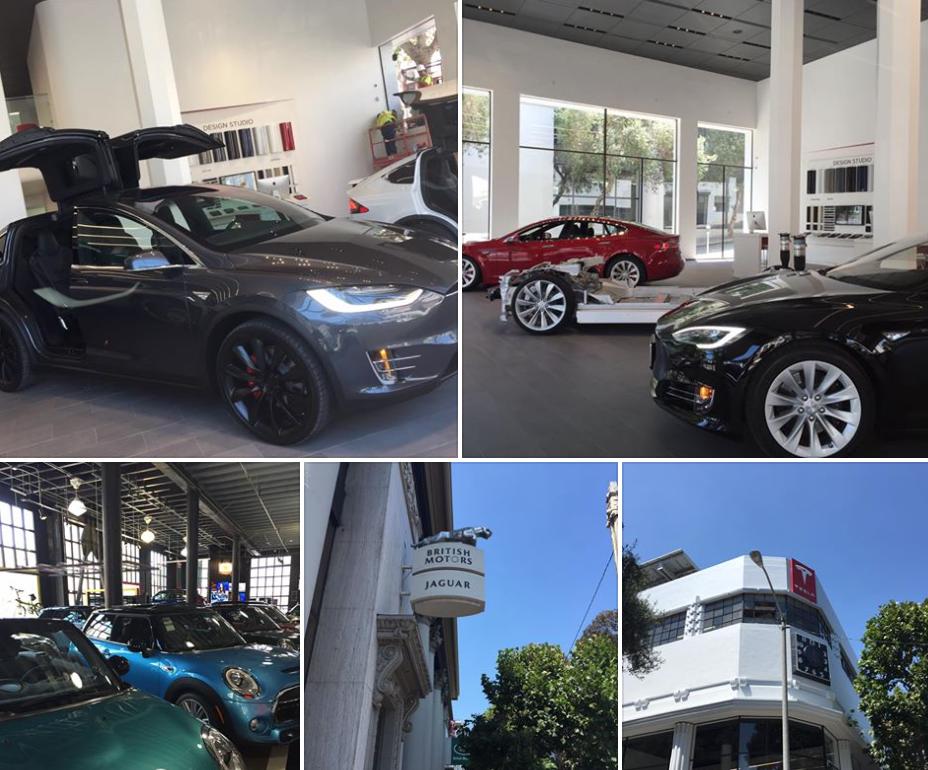 Tesla Showroom in SF